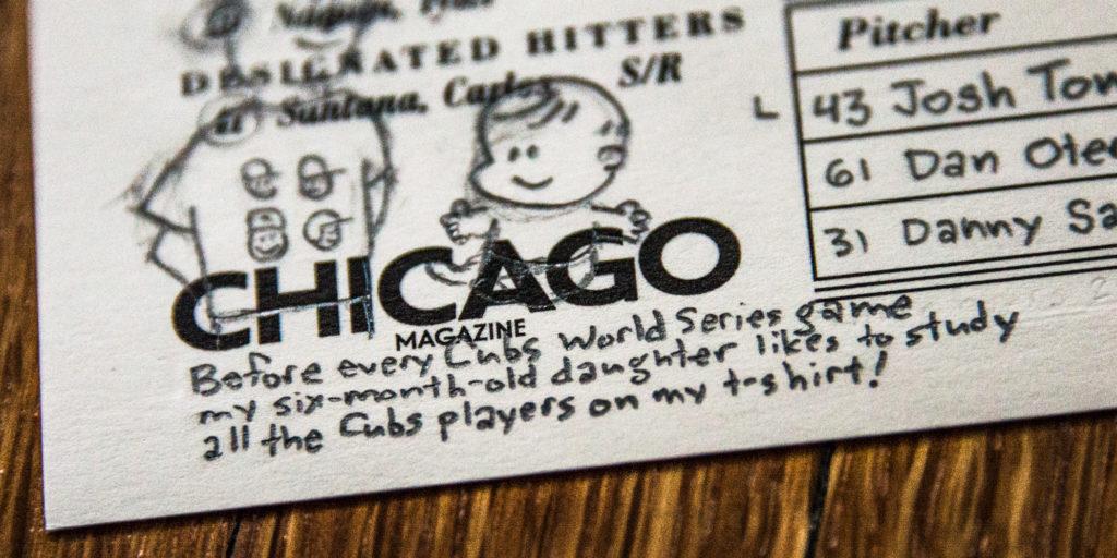Julia factoid (2016 World Series game 6 scorecard)