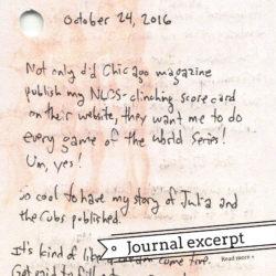 Journal excerpt
