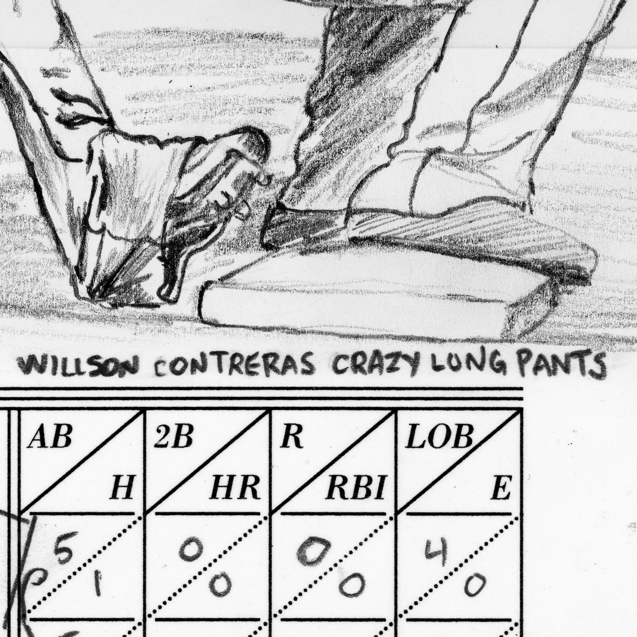 Willson Contreras crazy-long pants