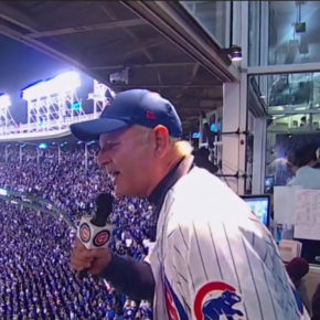 Bill Murray singing 7th inning stretch at game 3 of 2016 World Series