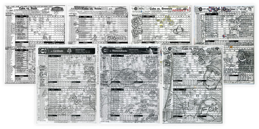 Selection of Matt's past scorecards