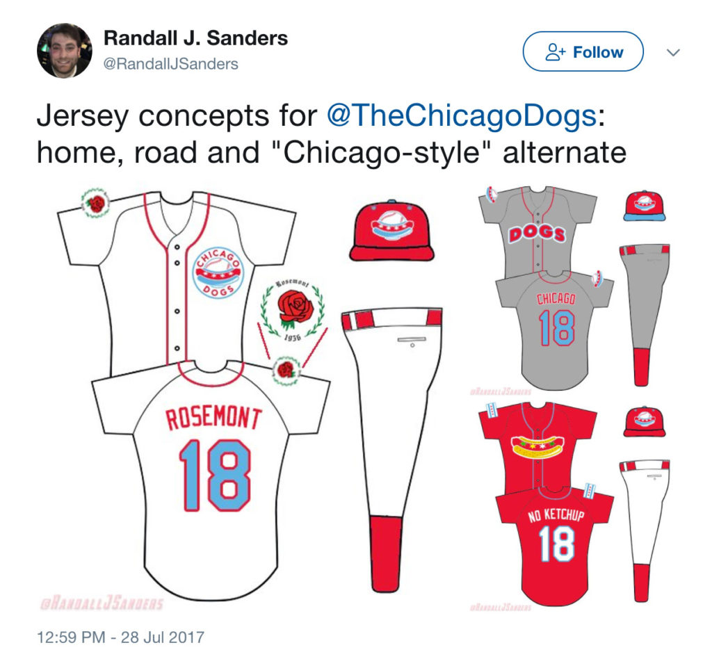 Jersey concepts for Chicago Dogs