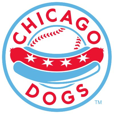 Chicago Dogs logo with baseball