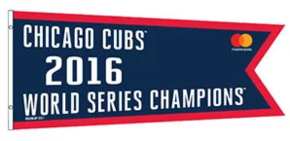 Chicago Cubs world series replica banner 2016