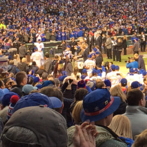 Super-close seats for Cubs ring ceremony