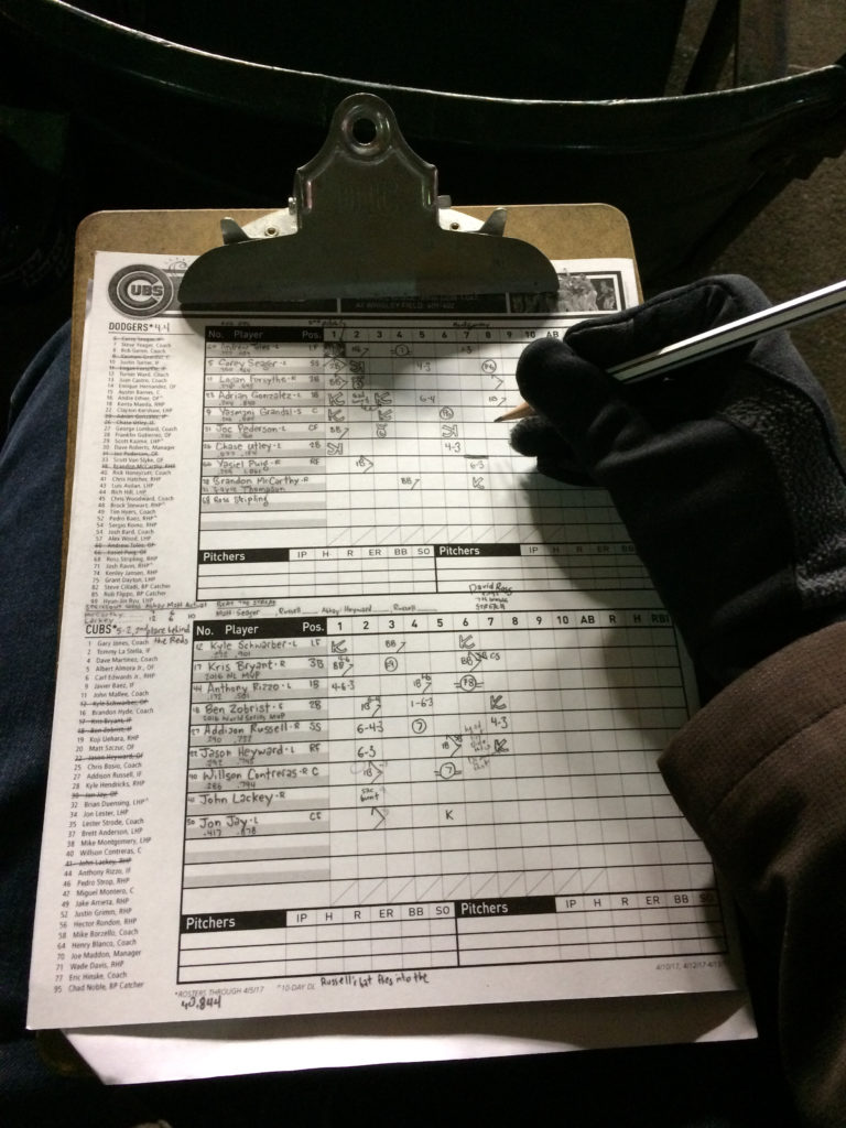 Keeping score with gloves