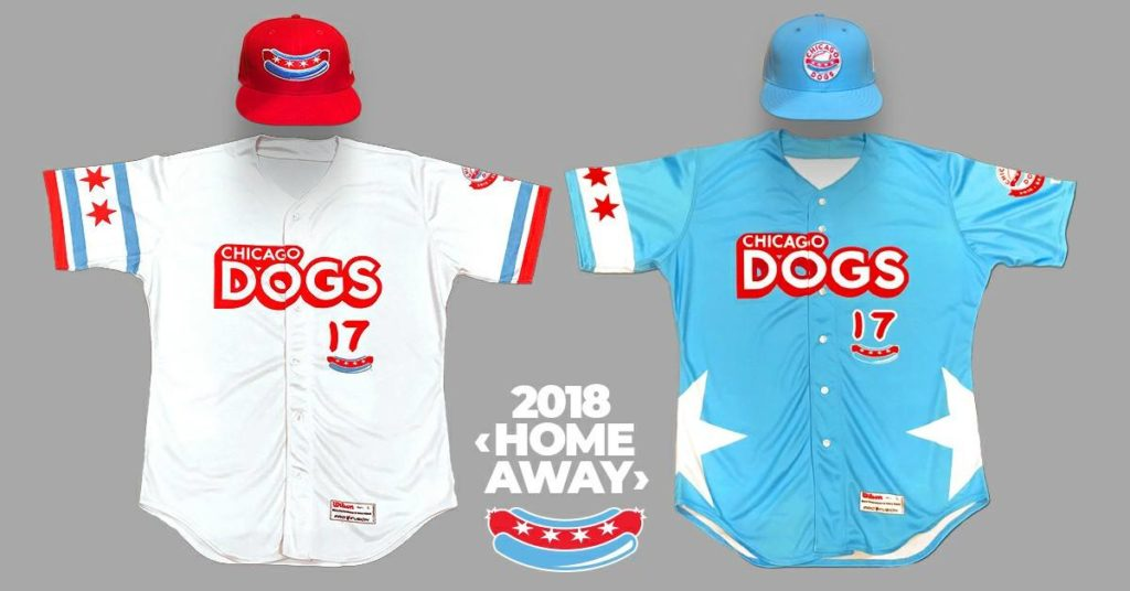Chicago Dogs uniform design 2018