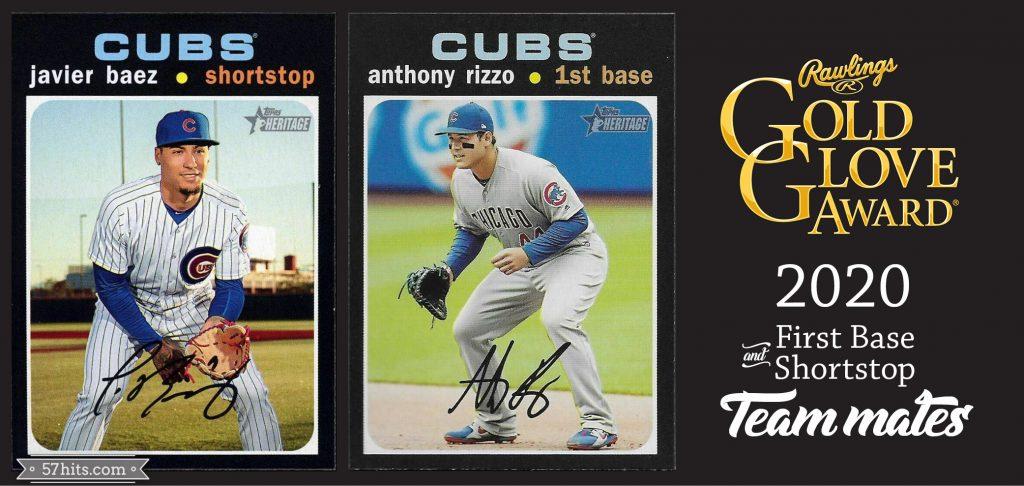 2020 Topps Heritage #142.1 Javier Baez, #373 Anthony Rizzo
