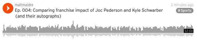57hits podcast episode 004: Schwarber vs Pederson