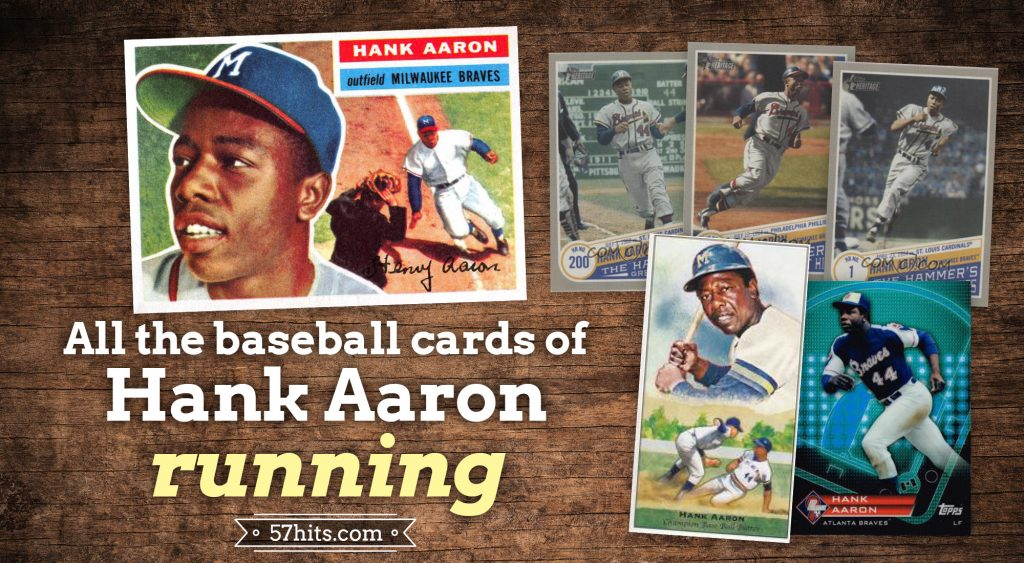All the baseball cards of Hank Aaron running