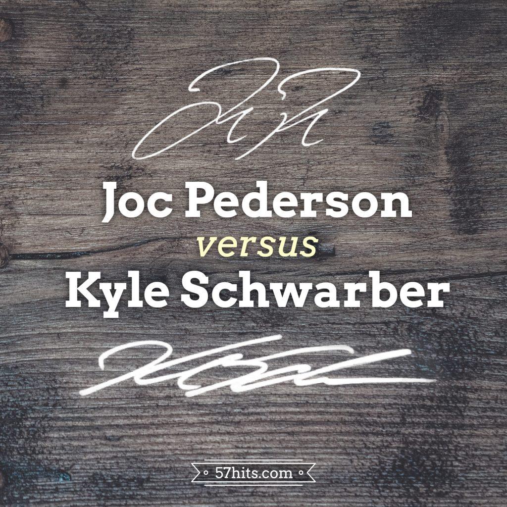 Joc Pederson's autograph vs Kyle Schwarber's autograph