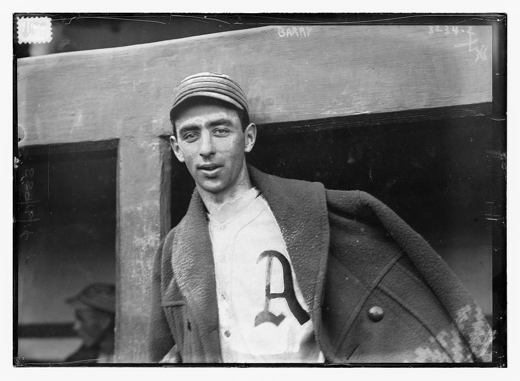 1913 Jack Barry Philadelphia Athletics Library of Congress
