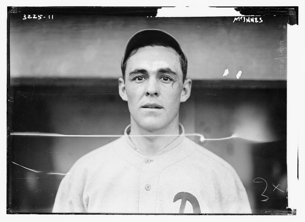 1913 Stuffy McInnis Philadelphia Athletics Library of Congress