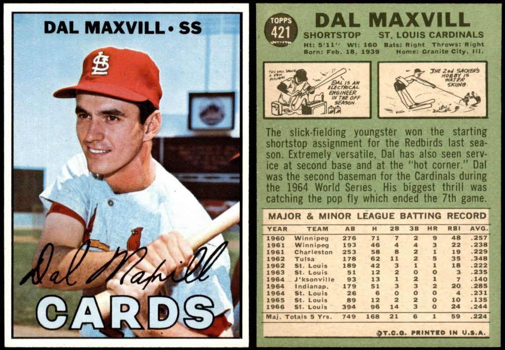 Dal Maxvill 1967 Topps