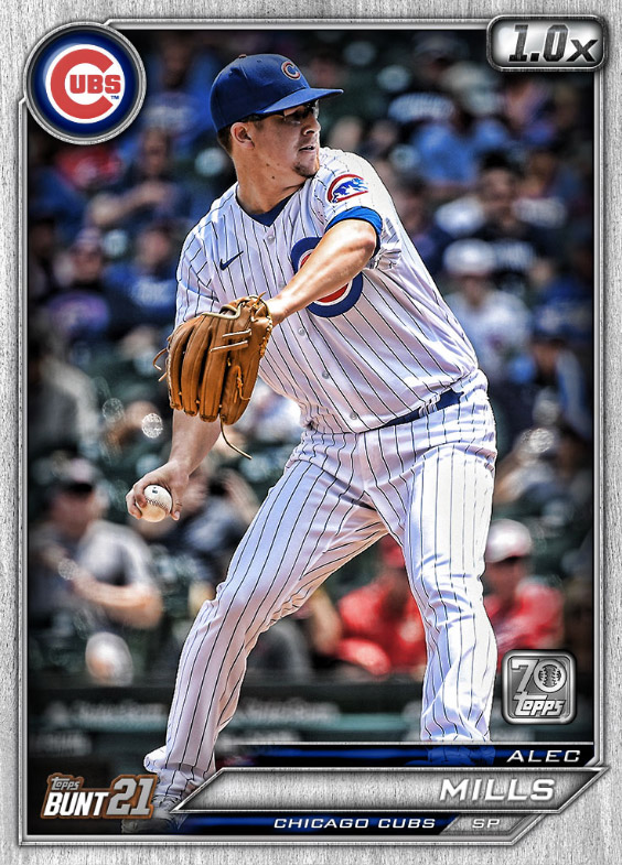 Alec Mills: Topps Bunt 2021 Base Series 2: #163523 (Chicago Cubs)