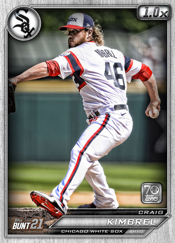 Craig Kimbrel: Topps Bunt 2021 Base Series 2: #1633393 (Chicago White Sox)