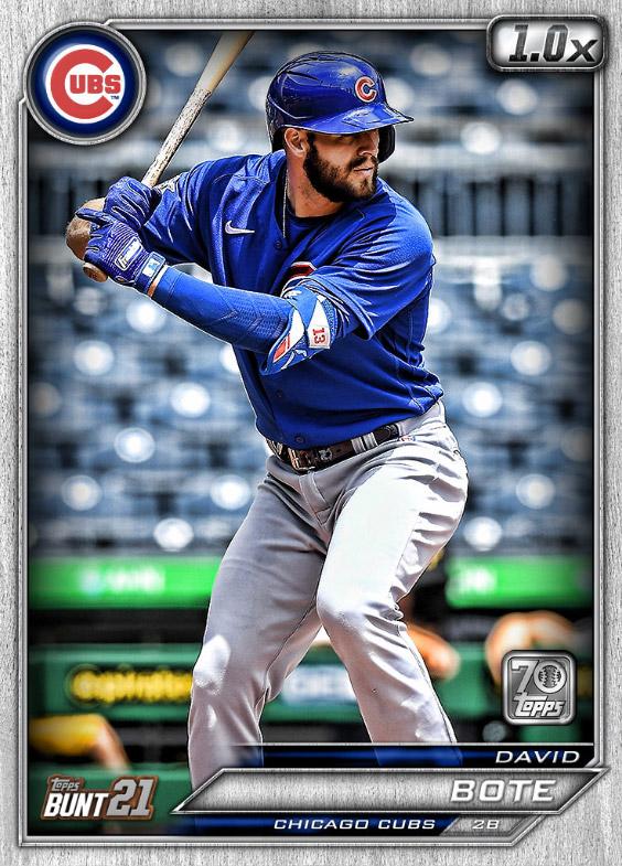 David Bote: Topps Bunt 2021 Base Series 2: #163533 (Chicago Cubs)