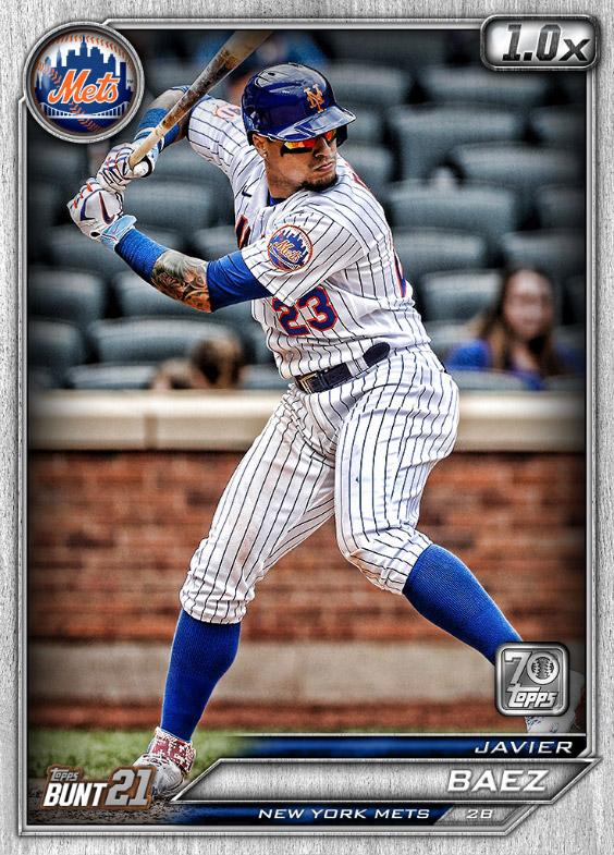 Javier Báez: Topps Bunt 2021 Base Series 2: #164178 (New York Mets)