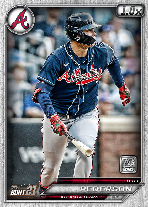 Joc Pederson: Topps Bunt 2021 Base Series 2: #164548 (Atlanta Braves)
