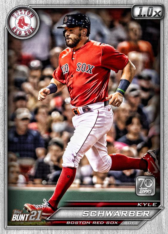 Kyle Schwarber: Topps Bunt 2021 Base Series 2: #163493 (Boston Red Sox)