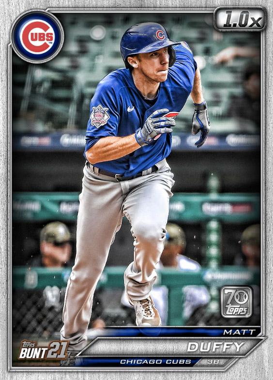 Matt Duffy: Topps Bunt 2021 Base Series 2: #163543 (Chicago Cubs)